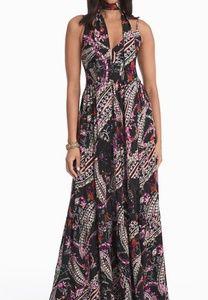 White house black market paisley print dress NWT